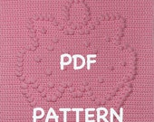 Cherry Topped Cupcake Baby Blanket Pattern - Crochet Pattern - Crochet Baby Blanket  - Baby Snuggle Blanket  - Car Seat or Stroller Blanket
