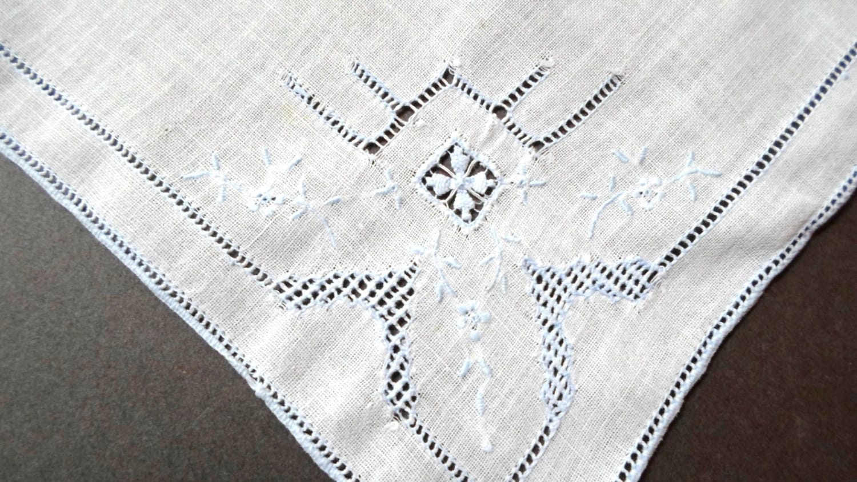 handkerchief wedding hankie embroidered by allvintagehankies