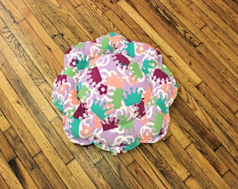 Dog Bed XSmall Small Princess Crowns Fleece