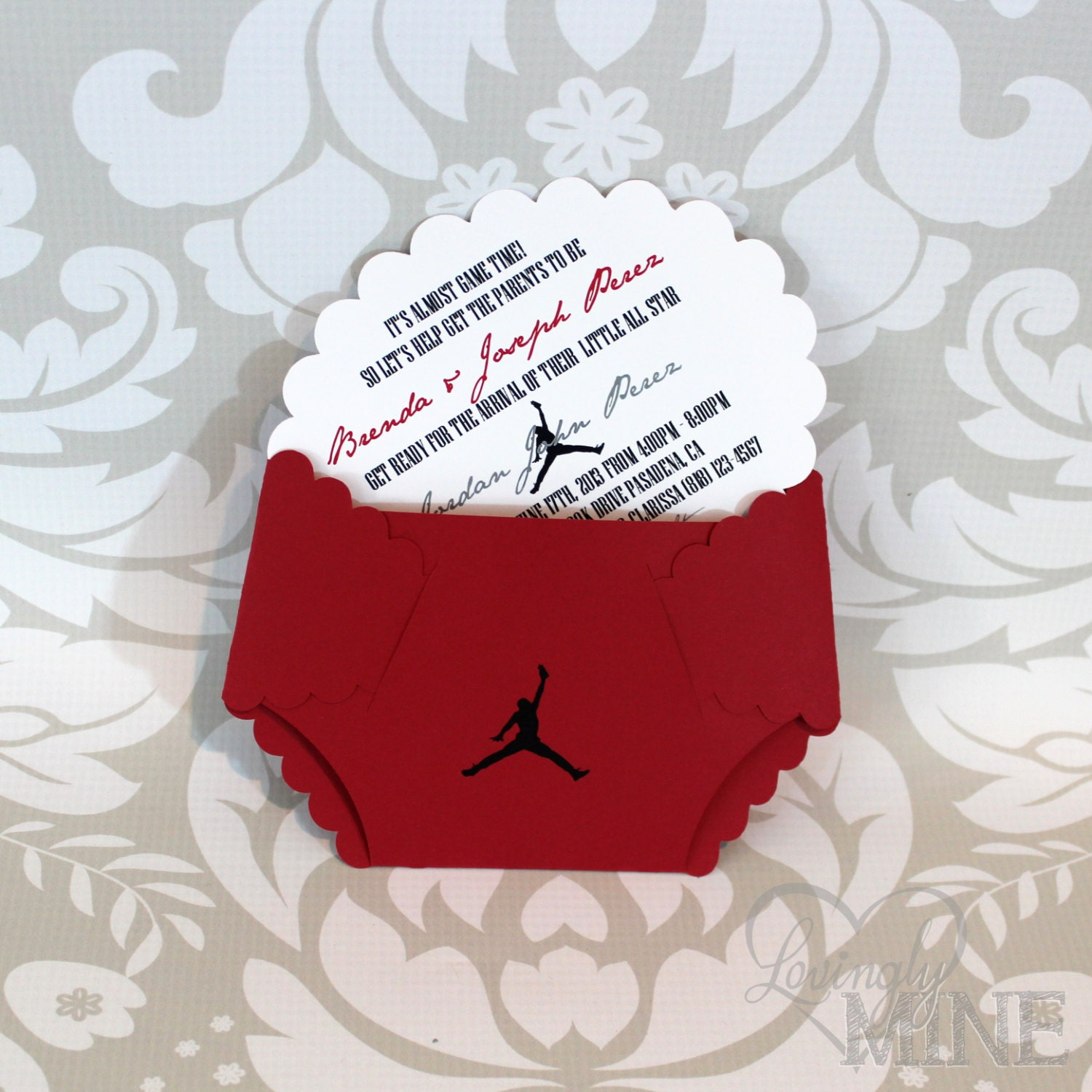 jordan jumpman inspired baby shower diaper by lovinglymine on etsy