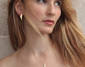 Bridal Triangle Earrings, Geometric Jewelry for Brides and Bridesmaids, Geometric Wedding, Gold Bridesmaids Studs, Bridesmaids Post Earrings