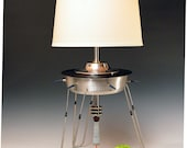 Flying Saucer lamp.. 196. Atomic Modern. Retro Deco. Metropolis. Flash meets Martha. Industrial steampunk lighting.