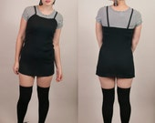 Vintage 1990s black and white striped mini dress by California Concepts / Baby Spice mini dress / spaghetti straps
