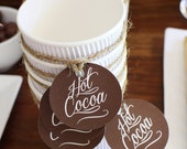 HOT Cocoa Bar 2 inch Circle Party Dots  - Printable File - Use for Hot Cocoa Cups