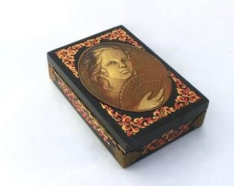 Vintage  jewelry box / music box , Treasury box Soviet Union Box -70s