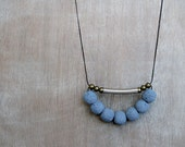 Coral Necklace / Blue Necklace / Tribal Necklace / Tube necklace