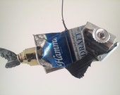 Found Object Recycled Hamms Beer Can Fish