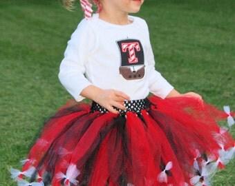 Pirate tutu with legwarmers -- Pirate Dress-- Girls Pirate Birthday-- Pirate Birthday-- Pirate Halloween Costume-- Girls Pirate Costume