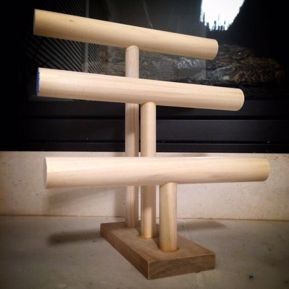 Diy 3 Tier Jewelry Stand: Items Similar To 3 Tier Or 3 Level Paintable Wooden