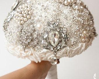 SALE!!! Diamante Brooch Bouquet - Bridal Bouquet - Wedding Bouquet