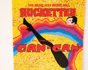 Chita Rivera in Can Can with the Rockettes Program Vintage Radio City Music Hall Booklet Broadway Dance Tour Souvenir Program Cole Porter