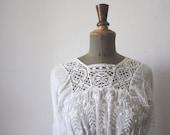 1900s cotton lace dress // Antique wedding dress