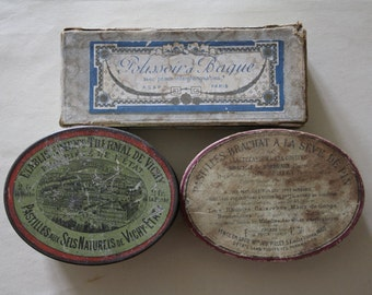 3 Antique French boxes // Apothecary box.