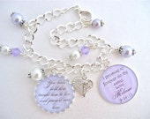 MOTHER of the GROOM Charm BRACELET Gift  Lavender Wedding Bracelet I Promise  Mother in Law Gift Beach Wedding Jewelry Beautiful Quote
