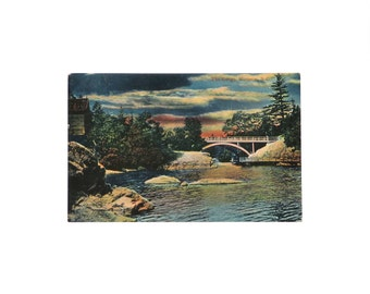 Antique postcard Canada Victoria BC The Gorge Mezzograph