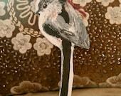 Wooden Long Tailed Tit decoration