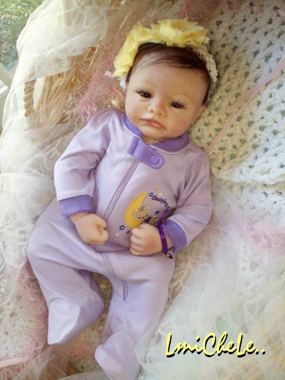 From The Violet Kit Completed Reborn Baby Doll 19 Inch Baby