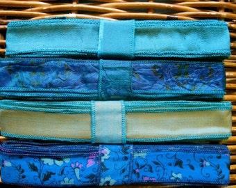 Silk Sari Ribbon, Silk Trim, 4 colors, R56