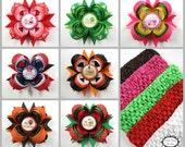 Infant Hair Bows - Baby Girl Gift Set - Newborn Hair Bows - Baby Shower Gift - First Holiday Hair Bow Set - St Patricks Easter 4th of July