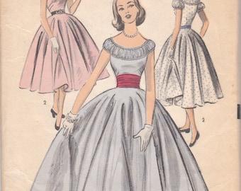 1950s Party Dress Pattern Advance 6209 Size 10