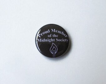 Midnight Society Member 1-inch Pinback or Magnet or Keychain - Inspired by the society in Are You Afraid of the Dark 90s Nickelodeon / YTV
