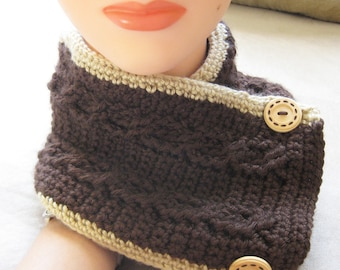 Cable Scarflet Pattern - Crochet Pattern Women's Neckwarmer
