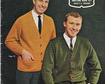 Vintage 1960s - Knits for Men and Women Vintage Knitting  Book No 677