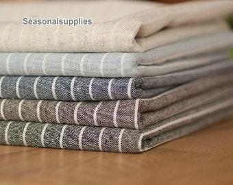 Yarn-dyed,Cotton Linen Fabric for craft, Stripe linen fabric, diy fabric,garment accessory 1/2 yard (C321)