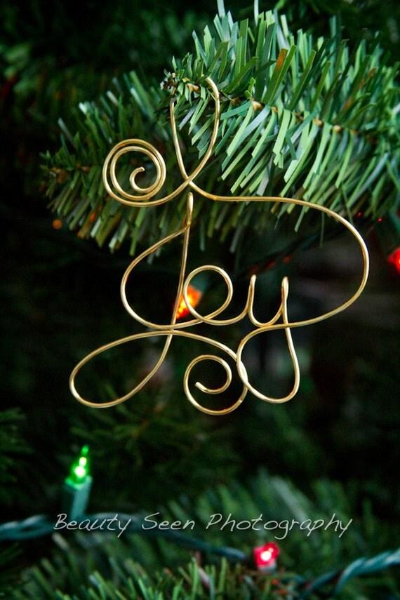 Items Similar To Joy Ornament Christmas Decorations