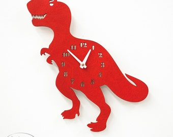 "The ""T-Raaawwwr-Rex"" a designer wall mounted clock from LeLuni"