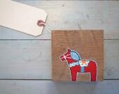 Dala Horse on Reclaimed Maine Barn wood