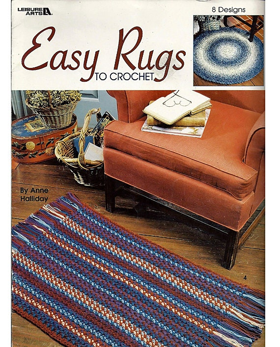 Crocheting Rugs Book : Easy Rugs to Crochet Pattern Book Leisure by grammysyarngarden