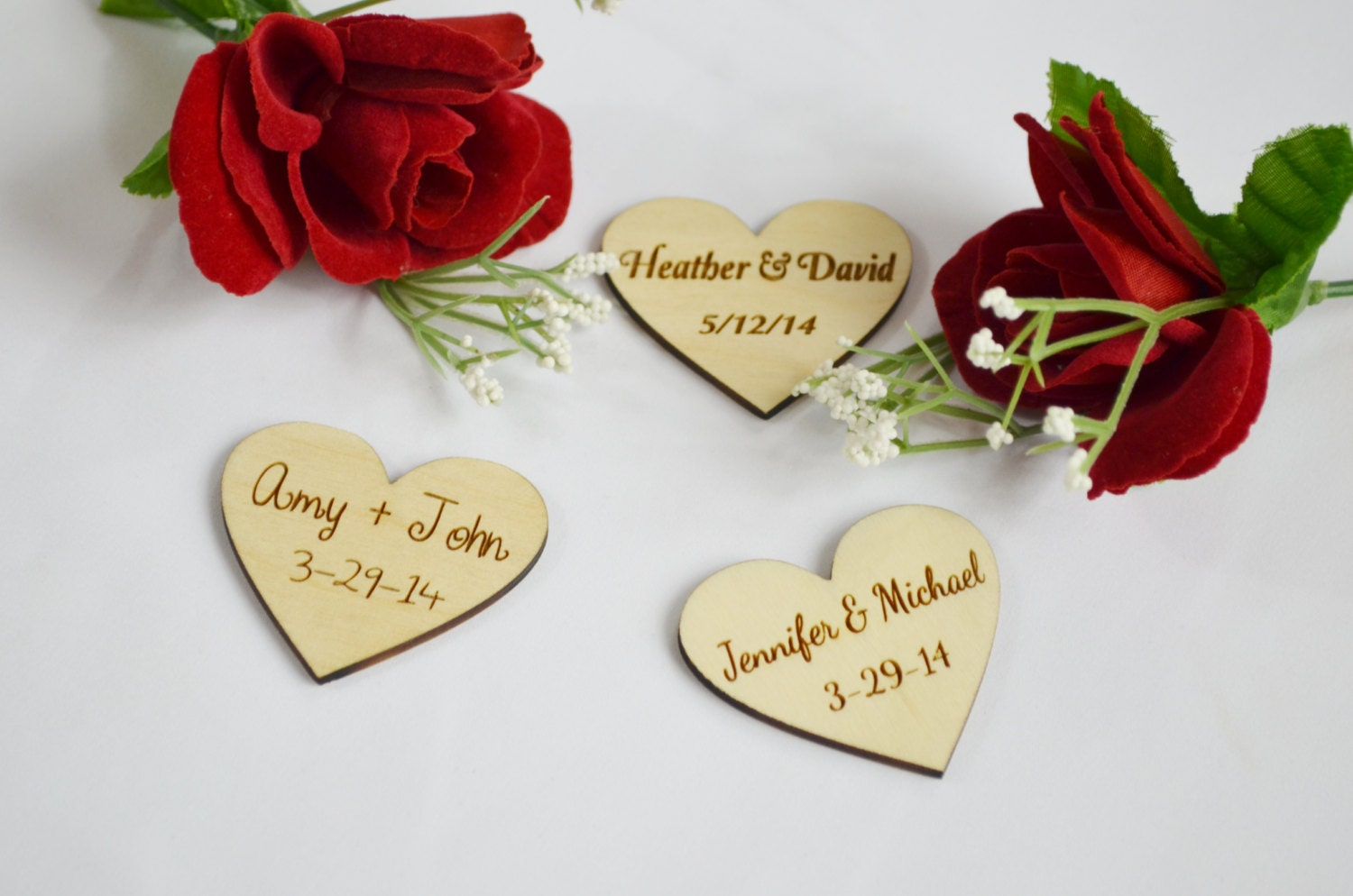 wedding ideas with hearts personalized wooden hearts wedding favors engraved wood 28358