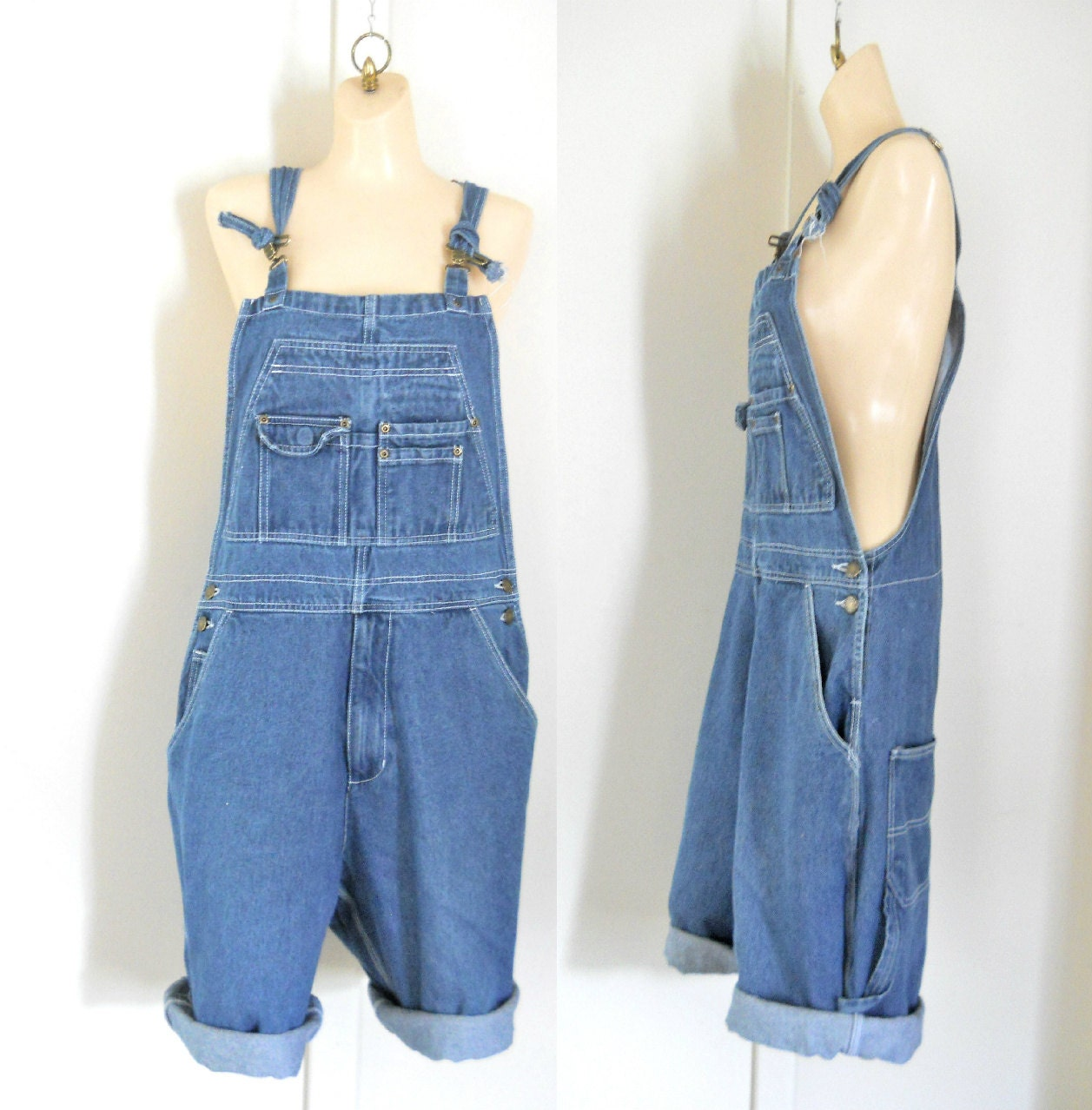 Bib Overall Shorts Perfect for easy summer styling, our latest range of women's dungaree shorts come in your favourite styles, colours and washes. Choose from classic fit denim dungaree shorts, easy to wear slouchy loose fit Bib-shorts or summery coloured cotton shorts.
