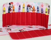 Minnie Mouse Inspired crayon roll up