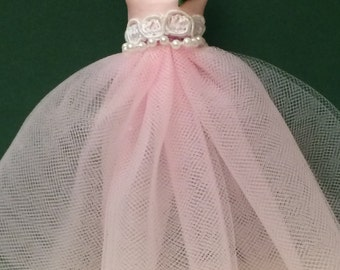 Dollhouse Miniature Romantic Party Dress, Colette's Sweet Sixteen,  Scale One Inch