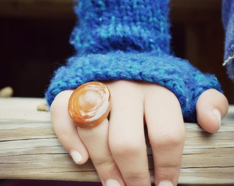Natural wood statement Ring, statement jewelry, boho jewelry reclaimed wood ring, eco friendly jewelry, wood jewelry, Starlight Woods