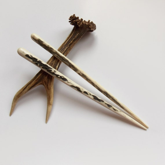 Hair chopsticks, Deer Antler, Hair pin, Haarschmuck, Eco, Hair Accessory, Tribal, Natural Hair Accessories, Handmade, MariyaArts