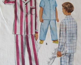It's Pajama Time Boys two piece pajama pattern 1940's McCall 7462 size 4