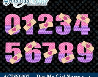 Doc Mc clipart numbers, doc mcstuffin clip art, mcstuffins clipart numbers number age for invitations digi scrap scrapbooking.