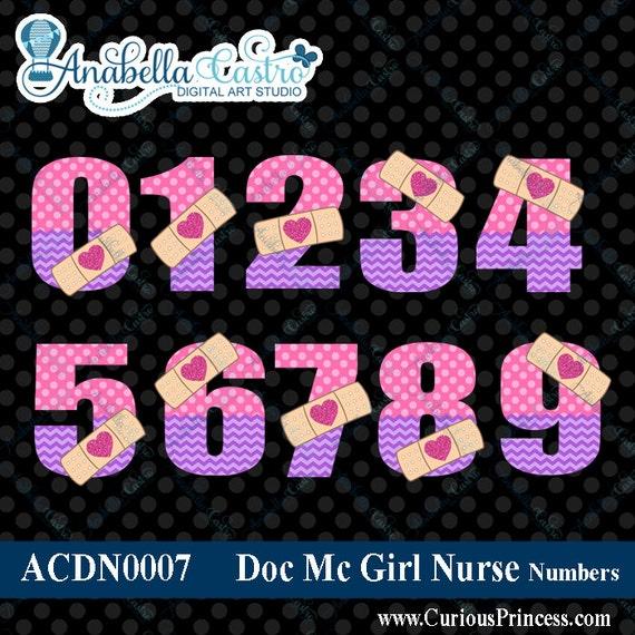Doc Mc clipart numbers, doc mcstuffin clip art, mcstuffins clipart numbers number age for invitations digi scrap scrapbooking.