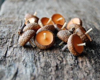 Acorn Cap Candle, Eco Friendly Floating Vanilla Scented Candles, Baby Shower Favors, Birthday Candles, Wedding Favors, Hygge Home Decor