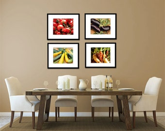Food Photography - Kitchen Art - Vegetables - Set of Four (4) Vegetable Photos - Fine Art Photography Prints - Kitchen/Dining Room Decor