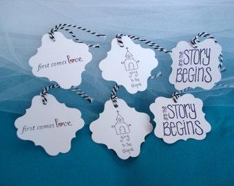 Handmade Set of 6 Wedding Tags