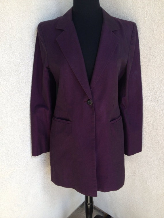 Vintage Esprit de Corp purple long jacket or Blazer by NelandAda