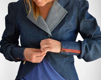 "Jacket ""Felipa"" denim jacket, denim, blazer, bolero, blue"