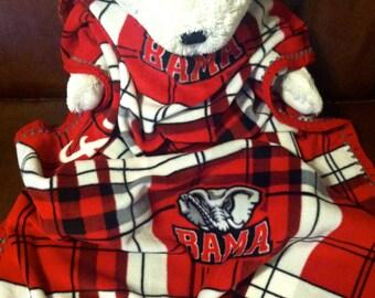 2015 National Champions! Alabama Crimson Tide Football Plaid Fleece Sports Baby Blanket