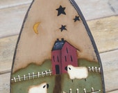 Handcrafted Primitive Home Decor Wooden Iron with Primitive Painting