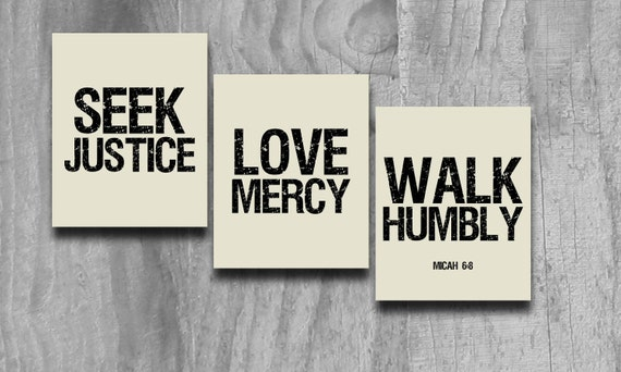 Seek Justice Art 3 Pc Set Print Scripture Subway Wall Art Printable INSTANT Digital Download Courageous Lyrics Black Taupe