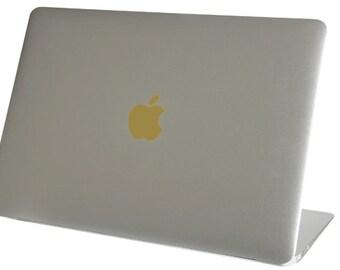 Gold Color Changer Macbook Air Logo Vinyl Sticker Decal Mac Apple Laptop iPad